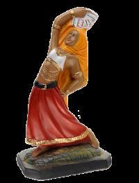 Imagem Cigana Dançarina com Barralho 20cm