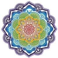 Tapete Toalha Mandala para Yoga e Meditação Circular #4