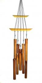 Sino dos Ventos Bambu Harpa Duplo