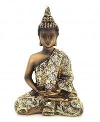 Buda Tibetano Dourado Pequeno