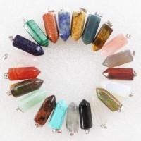Pêndulo de Pedra Natural (Kit 5 Uni)
