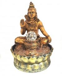 Fonte Resina Shiva na Flor de Lótus Bi-Volt