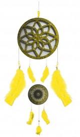 Filtro dos Sonhos com Mandala Amarelo