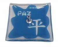 Incensário De Vidro Paz Azul
