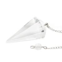 Pêndulo de Pedra Quartzo Transparente