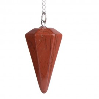 Pêndulo de Pedra Jaspe Vermelho
