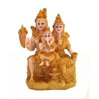 Família Indiana Dourada 12cm