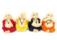 Budas Colorido em Resina (KIT 4 UNIDADES)
