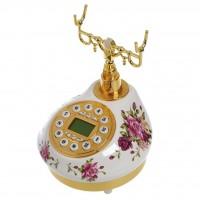 Telefone de Mesa Floral Estilo Antigo