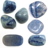 Pedra Quartzo Azul para Massagem 4 a 6 cm (Kit 7 unidade)