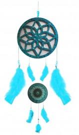 Filtro dos Sonhos com Mandala Azul