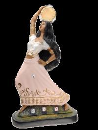 Imagem Cigana Dançarina com Pandeiro 20cm