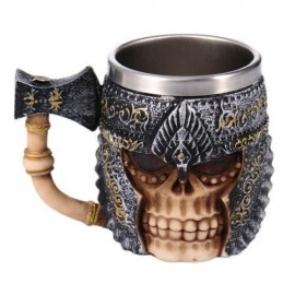 Caneca Medieval Cerveja Axe Knight 400ml - Game of Thrones