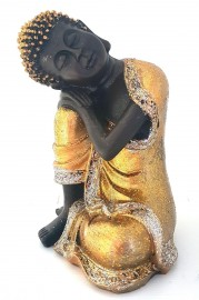 Buda Sonhador Dourado 19cm