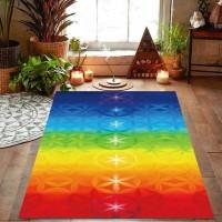 Tapete Toalha para Yoga e Meditação Arco Iris 7 Chakras #1