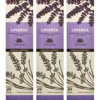 Incenso Nirvana Natural Lavanda (KIT 3 CAIXAS)