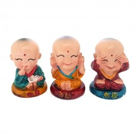 Trio Monges Budista Zen 6cm