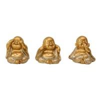 Trio de Buda Mini com Gliter
