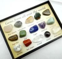 Caixa Com Mini Pedras para Colecionador