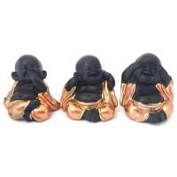 Trio de Buda Mini Cobre