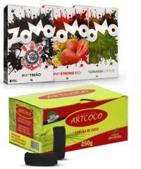 Narguilé Triton Zip Aladim Luxo Roxo + Combo