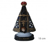 Estatua Nossa Senhora Aparecida 15cm