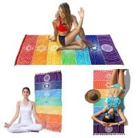 Tapete para Yoga e Meditação 7 Chakras Grande