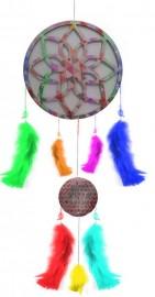 Filtro dos Sonhos com Mandala 7 Chakras