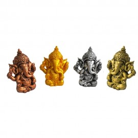 Ganesha Kit 4 Estatuas Coloridas