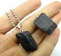 Colar Pedra Turmalina Negra