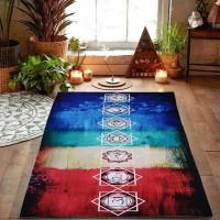 Tapete Toalha para Yoga e Meditação Arco Iris 7 Chakras #2