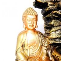 Fonte De Agua Buda Sidarta com 3 Quedas BIVOLT