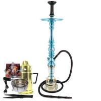 Narguilé Mani Sultan Grande Híbrido Azul Econo + Combo II