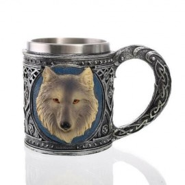 Caneca Medieval Cerveja Wolf Head 400ml - Game of Thrones