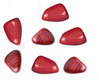 Pedra Jaspe Vermelho para Massagem 4 a 6 cm (Kit 7 unidade)